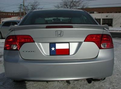 """DAR Spoilers - Honda Civic 4Dr """"Si"""" DAR Spoilers OEM Look Flush Wing w/ Light ABS-717"""