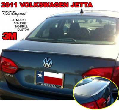 DAR Spoilers - Volkswagen Jetta DAR Spoilers Custom Trunk Lip Wing w/o Light ABS-745