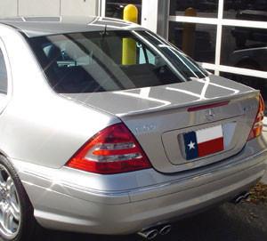 DAR Spoilers - Mercedes C-Class DAR Spoilers OEM Look Trunk Lip Wing w/o Light FG-002