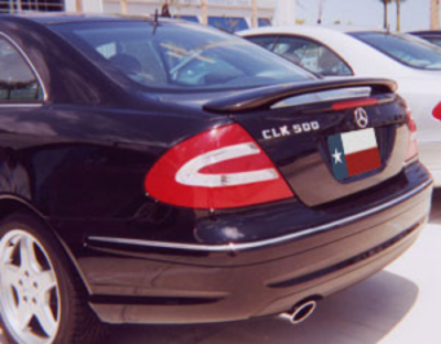 DAR Spoilers - Mercedes CLK DAR Spoilers OEM Look 3 Post Wing w/o Light FG-023