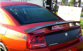 DAR Spoilers - Dodge Charger Daytona Hemi R/T DAR Spoilers OEM Look 3 Post Wing w/o Light FG-032