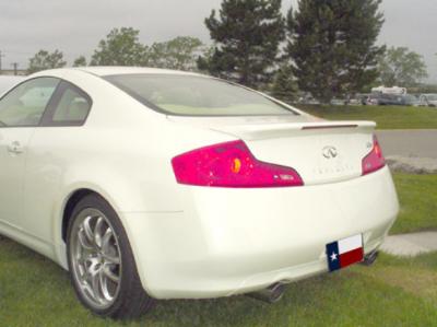 DAR Spoilers - Infiniti G35 Coupe DAR Spoilers OEM Look Flush Wing w/ Light FG-035