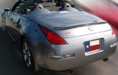DAR Spoilers - Nissan 350Z Roadster DAR Spoilers Custom Trunk Lip Wing w/o Light FG-042