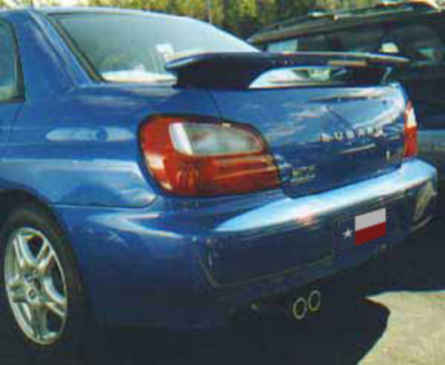 DAR Spoilers - Subaru Impreza WRX DAR Spoilers OEM Look 3 Post Wing w/ Clear Light FG-043