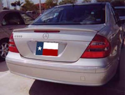 DAR Spoilers - Mercedes E-Class DAR Spoilers OEM Look Trunk Lip Wing w/o Light FG-077