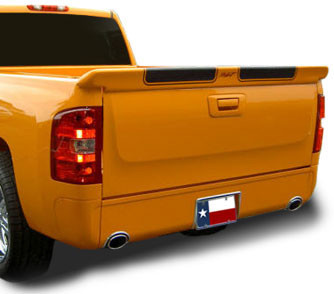 DAR Spoilers - Chevrolet Silverado (Not Stepside) DAR Spoilers Custom Tailgate Wing w/o Light FG-100