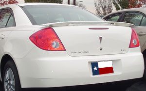 DAR Spoilers - Pontiac G6 Sedan DAR Spoilers Custom 3 Post Wing w/o Light FG-134