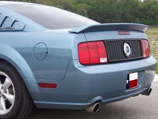 DAR Spoilers - Ford Mustang Gt500 DAR Spoilers OEM Look Flush Wing w/o Light FG-214