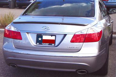 DAR Spoilers - Hyundai Genesis Sedan DAR Spoilers Custom Trunk Lip Wing w/o Light FG-221