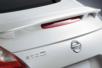 DAR Spoilers - Nissan 370Z Coupe DAR Spoilers OEM Look Flush Wing w/o Light FG-239