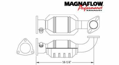 MagnaFlow - MagnaFlow Direct Fit Front Catalytic Converter - 23263