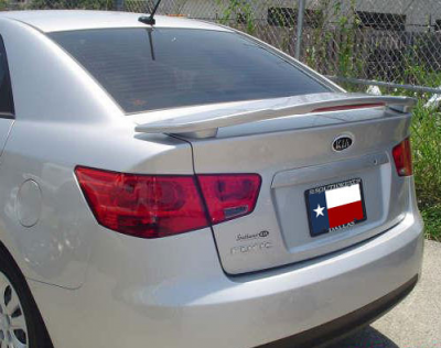 DAR Spoilers - Kia Forte Sedan DAR Spoilers Custom 3 Post Wing w/ Light FG-250