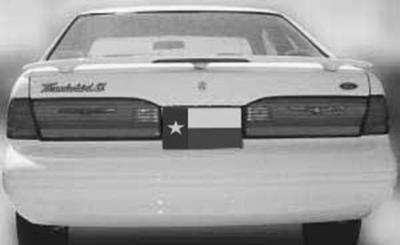 DAR Spoilers - Mercury Cougar DAR Spoilers OEM Look 3 Post Wing w/ Light FG-516