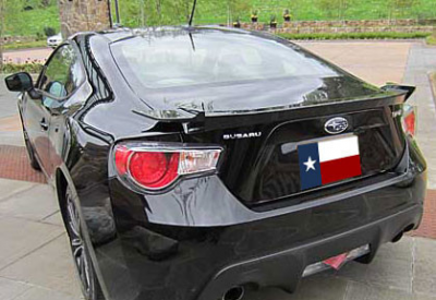DAR Spoilers - Subaru Subaru BR-Z (GT-86 Style) DAR Spoilers OEM Look Flush Wing w/o Light FG-524