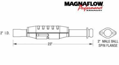 MagnaFlow - MagnaFlow Direct Fit Catalytic Converter - 23443