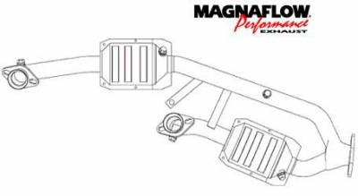 MagnaFlow - MagnaFlow Direct Fit Y-Pipe Catalytic Converter - 23542