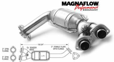 MagnaFlow - MagnaFlow Direct Fit Front Catalytic Converter - 23663