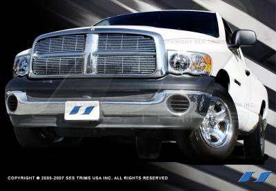 SES Trim - Dodge Ram SES Trim Billet Grille - 304 Chrome Plated Stainless Steel - CG102