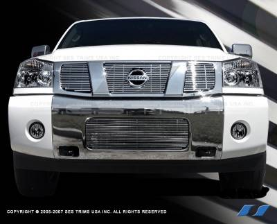 SES Trim - Nissan Titan SES Trim Billet Grille - 304 Chrome Plated Stainless Steel - CG106A