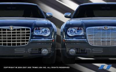 SES Trim - Chrysler 300 SES Trim Billet Grille - 304 Chrome Plated Stainless Steel - CG107