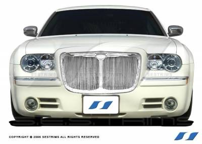SES Trim - Chrysler 300 SES Trim Billet Grille - 304 Chrome Plated Stainless Steel - Vertical Replacement - CG107R