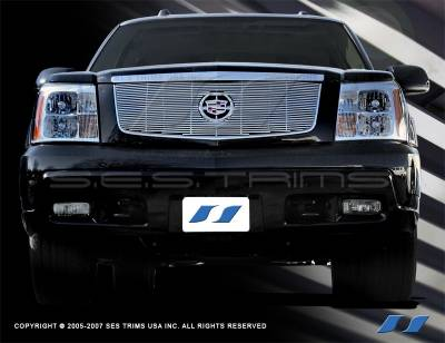 SES Trim - Cadillac Escalade SES Trim Billet Grille - 304 Chrome Plated Stainless Steel - CG108