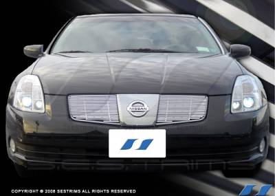 SES Trim - Nissan Maxima SES Trim Billet Grille - 304 Chrome Plated Stainless Steel - CG109