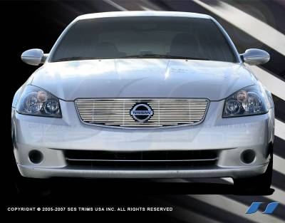SES Trim - Nissan Altima SES Trim Billet Grille - 304 Chrome Plated Stainless Steel - CG110