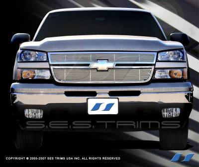 SES Trim - Chevrolet Silverado SES Trim Billet Grille - 304 Chrome Plated Stainless Steel - CG112