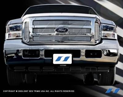 SES Trim - Ford F350 SES Trim Billet Grille - 304 Chrome Plated Stainless Steel - CG113