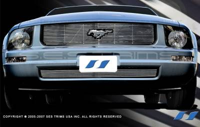 SES Trim - Ford Mustang SES Trim Billet Grille - 304 Chrome Plated Stainless Steel - CG124