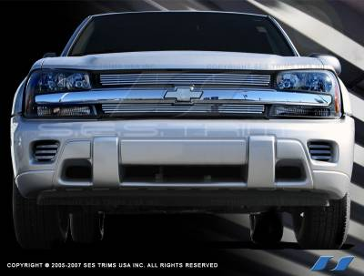 SES Trim - Chevrolet Trail Blazer SES Trim Billet Grille - 304 Chrome Plated Stainless Steel - CG140