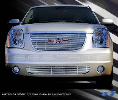 SES Trim - GMC Yukon SES Trim Billet Grille - 304 Chrome Plated Stainless Steel - CG147
