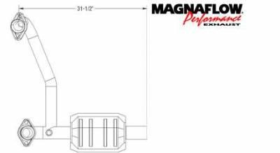 MagnaFlow - MagnaFlow Direct Fit Catalytic Converter - 93482