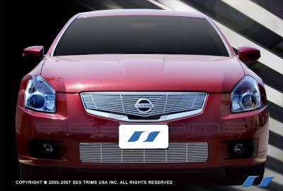 SES Trim - Nissan Maxima SES Trim Billet Grille - 304 Chrome Plated Stainless Steel - Top - CG149