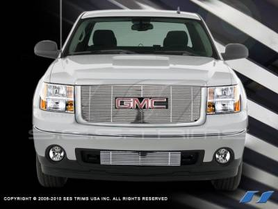 SES Trim - GMC Sierra SES Trim Billet Grille - 304 Chrome Plated Stainless Steel - CG151