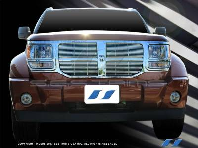 SES Trim - Dodge Nitro SES Trim Billet Grille - 304 Chrome Plated Stainless Steel - CG156