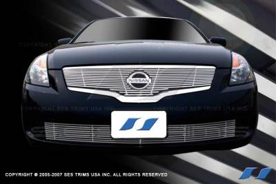SES Trim - Nissan Altima SES Trim Billet Grille - 304 Chrome Plated Stainless Steel - Bottom - CG157B