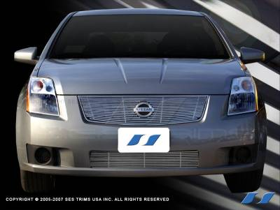 SES Trim - Nissan Sentra SES Trim Billet Grille - 304 Chrome Plated Stainless Steel - CG158
