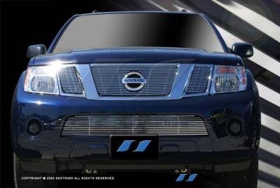 SES Trim - Nissan Pathfinder SES Trim Billet Grille - 304 Chrome Plated Stainless Steel - Bottom - CG184B