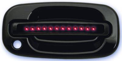 In Pro Carwear - Cadillac Escalade IPCW LED Door Handle - Front - Black - Both Sides with Key Hole - 1 Pair - CLR99B18F