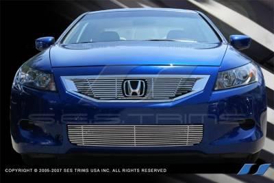 SES Trim - Honda Accord 2DR SES Trim Billet Grille - 304 Chrome Plated Stainless Steel - Bottom - CG190B
