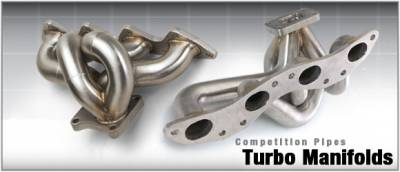 DC Sports - Brushed Stainless Steel Turbo Exhaust Manifold - Blue - NTM4203B