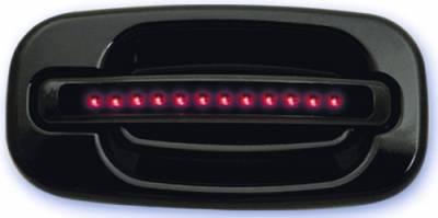 In Pro Carwear - GMC Yukon IPCW LED Door Handle - Rear - Black without Key Hole - 1 Pair - CLR99B18R