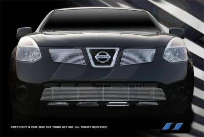 SES Trim - Nissan Rogue SES Trim Billet Grille - 304 Chrome Plated Stainless Steel - Bottom - CG207B