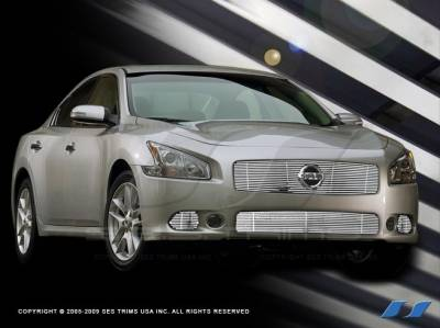 SES Trim - Nissan Maxima SES Trim Billet Grille - 304 Chrome Plated Stainless Steel - Top - CG212A