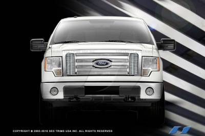 SES Trim - Ford F150 SES Trim Billet Grille - 304 Chrome Plated Stainless Steel - CG216