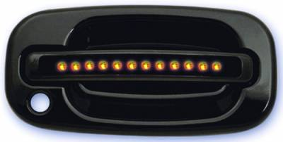 In Pro Carwear - Chevrolet Silverado IPCW LED Door Handle - Front - Black - Both Sides with Key Hole - 1 Pair - CLY99B18F