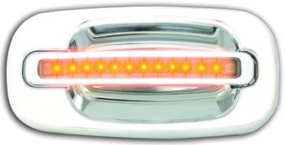 In Pro Carwear - Chevrolet Silverado IPCW LED Door Handle - Rear - Chrome without Key Hole - 1 Pair - CLY99C18R