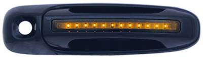 In Pro Carwear - Dodge Ram IPCW LED Door Handle - Front - Black - Both Sides with Key Hole - 1 Pair - DLY02B04F